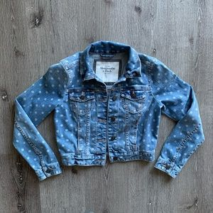 Abercrombie & Fitch Polka Dot Denim Jean Jacket